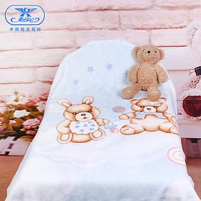 新光婴儿宝宝儿童新生儿毛毯加厚拉舍尔童盖毛毯子双面特价包邮