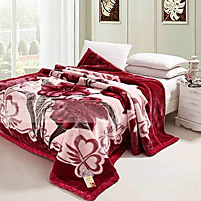 冬季保暖毯加厚毛毯高档印花毯拉舍尔亚克力毛毯外贸商品