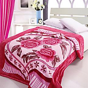 2013秋冬新品毛毯 拉舍尔亚克力加厚毛毯印花 印花超柔双层毯子