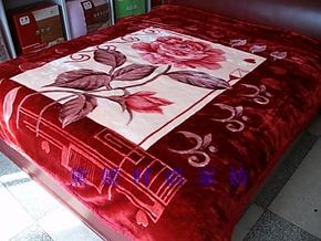 正品防伪 红豆牌精品毛毯子 9斤亚克力冬用加厚结婚庆送包装