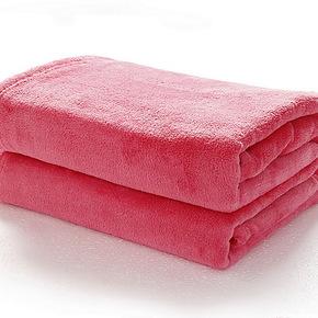 【天天特价】维科兴洋毛毯素色珊瑚绒毯春秋毯午睡毯好评送彩票