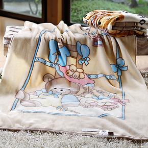 维科兴洋毛毯双层印花超细纤维儿童毛毯拉舍尔春秋童毯多色特价