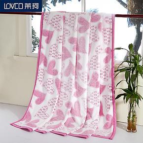 莱珂家纺 顶级珊瑚绒毯子 剪毛印花毛毯 法莱绒保暖床单 冬毛巾被
