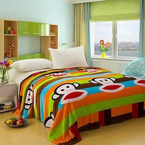 绒毯包邮 印花法兰绒毯空调毯 休闲毯 毛毯 床单 秋冬毛毯 空调毯