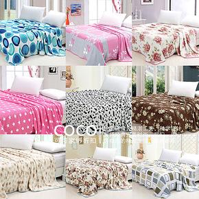 珊瑚绒毯子 法莱绒毯 印花单人双人1.5 1.8 珊瑚绒床单 毛毯加厚