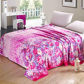 【清仓】印花珊瑚绒毯子 毛毯  床单 法莱绒毯 薄款 包邮