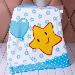 真爱美家 床单款印花珊瑚绒毯子春秋毛毯 多用膝毯办公室小毯子