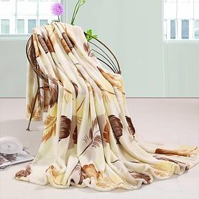 诗娜朵特价包邮床上用品印花毛毯加厚珊瑚绒毯子空调被毛巾毯床单