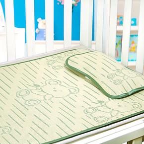 婴儿竹炭纤维凉席宝宝亚麻草凉席 婴儿床凉席 儿童冰丝凉席
