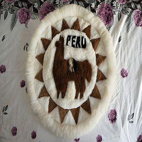 智利进口驼羊皮毛毯羊驼挂毯壁毯坐垫椅垫家饰墙饰壁饰创意饰品
