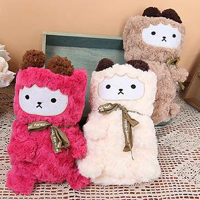 外贸 春秋季创意卡通熊猫小熊羊驼可爱小毛毯 珊瑚绒空调休闲毯子