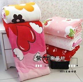 包邮288F超柔双面绒印花珊瑚绒毯毛毯  空调毯 送礼开始