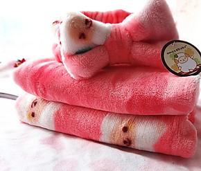 可爱萌小绵羊 束发带 儿童小盖毯 婴儿毛毯床单超柔高档法兰绒