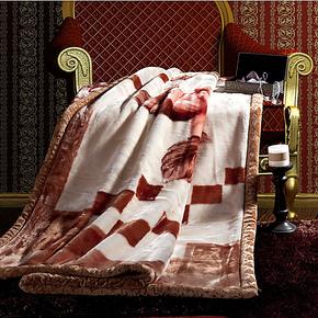 上海小绵羊床上用品高级拉舍尔毛毯 七斤/九斤 西班牙风情盖毯