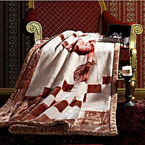 小绵羊家纺 床上用品 暖丝:高级拉舍尔毛毯 专柜正品
