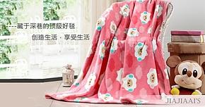 珊瑚绒升级法莱绒毛毯卡通小绵羊懒人毯乐眠床单毛巾毯午睡毯被单