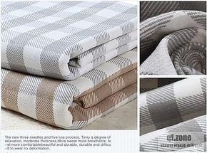 美式风格纯棉提花盖毯全棉毛巾毯休闲毯夏凉毛毯格子床单低价包邮