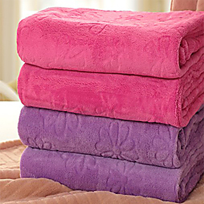 提花珊瑚绒毯毛毯加厚毯柔绒毯空调毯午休毯午睡毯毯子1.8毯子2米