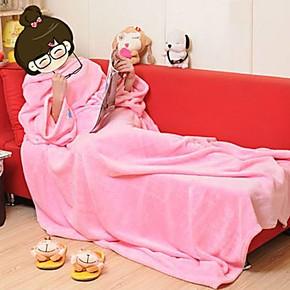 懒人毯特价包邮卡通外贸加厚珊瑚绒毯子盖毯有袖毛毯秋冬保暖床单