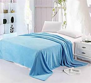 秋冬薄毯 双面珊瑚绒毯子 纯色毛毯 毛毯舒棉绒床单特价包邮清仓