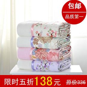 复合竹纤维毛巾被毛毯子 纯棉毛巾被 单人加厚空调毯夏天毛巾毯