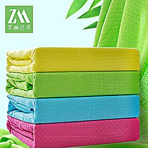 竹纤维毛巾被 单双人空调毯床单 婴儿夏凉被休闲盖毯 儿童毛毯子