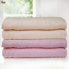 恒美家纺 竹纤维毛毯 婴儿保暖毯 加厚 毛巾被 单双人盖毯 特价