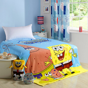 希诺雅 毛毯 儿童卡通珊瑚绒毛毯 珊瑚绒毯子 夏天空调毯 毛巾被