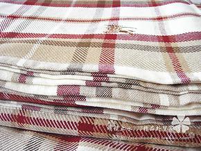 出口欧美外贸原单纯棉毛巾被 欧式经典格子毛毯空调棉麻盖毯 新品