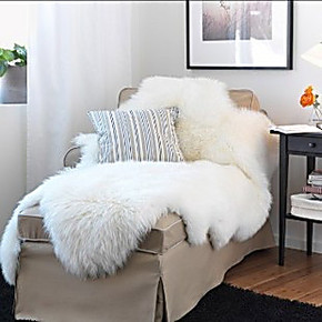 宜家IKEA@上海代购 羊皮垫【梵比】羊毛毯 羊毛垫 沙发用