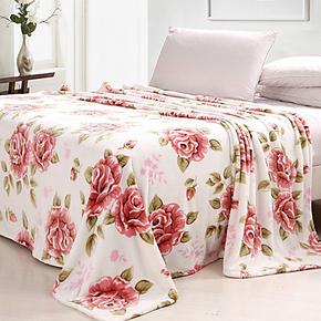 九洲鹿全网低价 金冠 帝娜 珊瑚印花绒毯/春秋毯/空调毯/毛毯