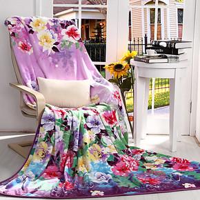 贝纳罗-罗莱家纺珊瑚绒毯子法莱绒毛毯休闲毯午睡毯高密法兰绒毯