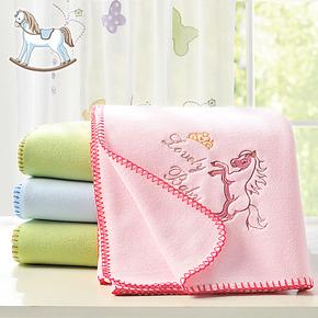 艾娜骑士 婴儿毛毯子新生儿宝宝儿童毛毯子秋冬 小马宝宝专属新品