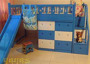 儿童床公主床 儿童床带护栏 组合床 单人床 高低床 滑梯床 实木床