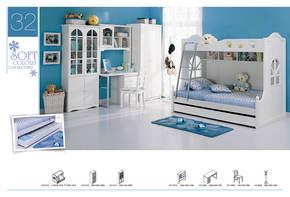 包邮未来之窗 儿童家具高低床儿童床 实木床 韩式床 单人床护栏