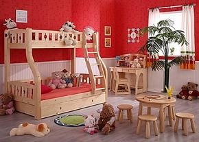 松堡王国双层床/儿童全实木子母床/高低床/上下床/SP-C201 正品