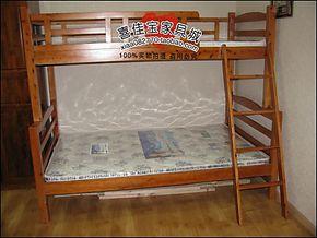 简约现代宜家环保子母床双层床高低床木质框架结构柏木带安全拦板