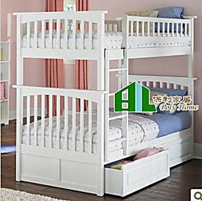 上海专业定做全实木架子床拔步床美式田园小孩床,双层床,高低床