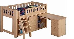 实木儿童组合床高低床儿童套床书桌多功能组合床衣柜
