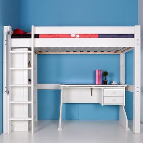 suwem 实木儿童床松木儿童高架床 多功能儿童高低床宜家童床特价