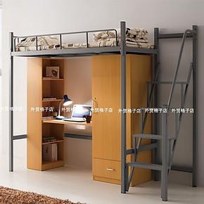 侧踏梯学生铁艺床高架床子母床高低床多功能组合床公寓床部队床