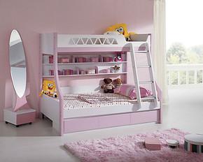 未来之窗儿童家具 高低床638A子母床韩式韩版床 公主床男孩女孩床