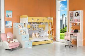未来之窗特价儿童家具 愤怒的小鸟爱心上下床 高低床 双层床