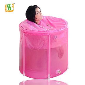 百事爽海绵底保温盖折叠浴桶免充气浴缸沐浴桶沐浴盆洗澡桶75X70