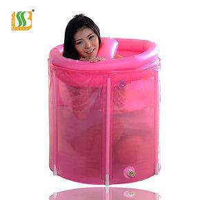百事爽海绵底沐浴桶折叠浴桶免充气浴缸沐浴盆木桶盆洗澡桶80X80