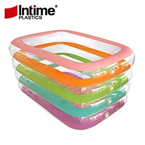 盈泰Intime  超大充气方形七彩游泳池  婴幼儿宝宝戏水池 浴缸10