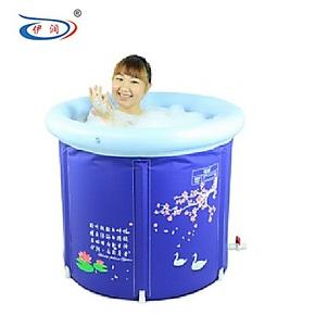 伊润2012新款加厚耐寒折叠浴桶沐浴盆泡澡桶充气浴缸送盖