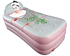 2013利鑫新款加厚充气浴缸保暖美容浴缸折叠浴缸浴桶成人泡澡桶