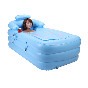 利鑫品牌新款保暖充气折叠浴缸CC155环保小秋冬户外郊游正品包邮