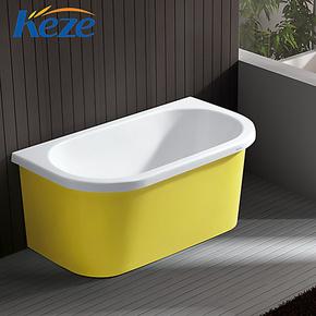 科泽洁具 亚克力浴缸1.2米1.3米贵妃缸彩色裙缸艺术缸厂家直销
